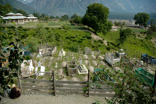 Cemetary, central part of village of Kalam, upper Swat Valley, North-West Frontier Province, Pakistan, 13 August, 2006, photograph by Gordon Brent Ingram