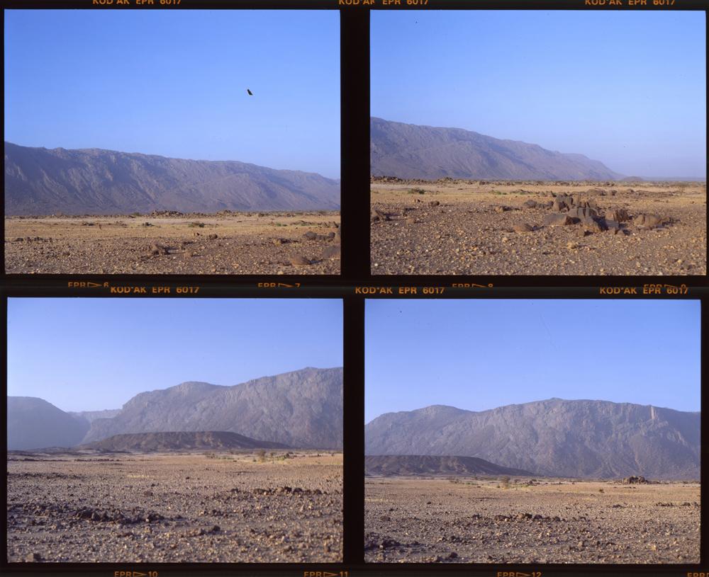 Bagzane Plateau from near Tabelot Air Mountains 2 Dec 1986 (quad) Gordon Brent Ingram