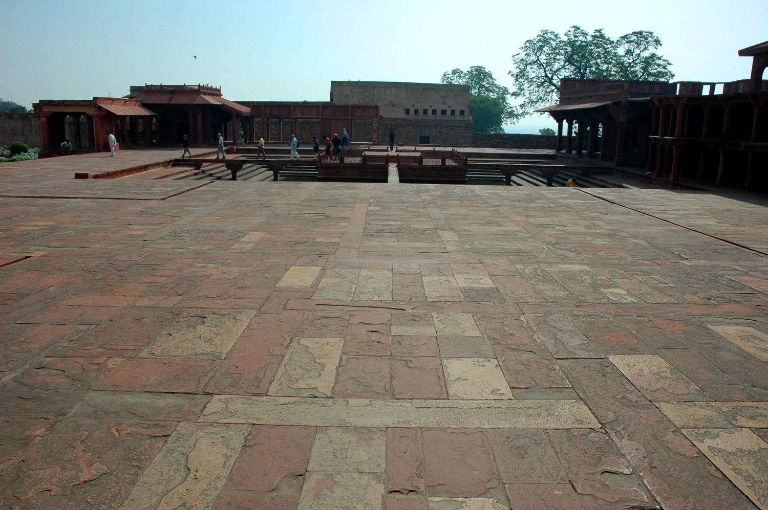 Hard-surfaced maidan leading to the pool at Anup Talao, Fatehpur Sikri, Uttar Pradesh, 18 March, 2007, photograph by Gordon Brent Ingram