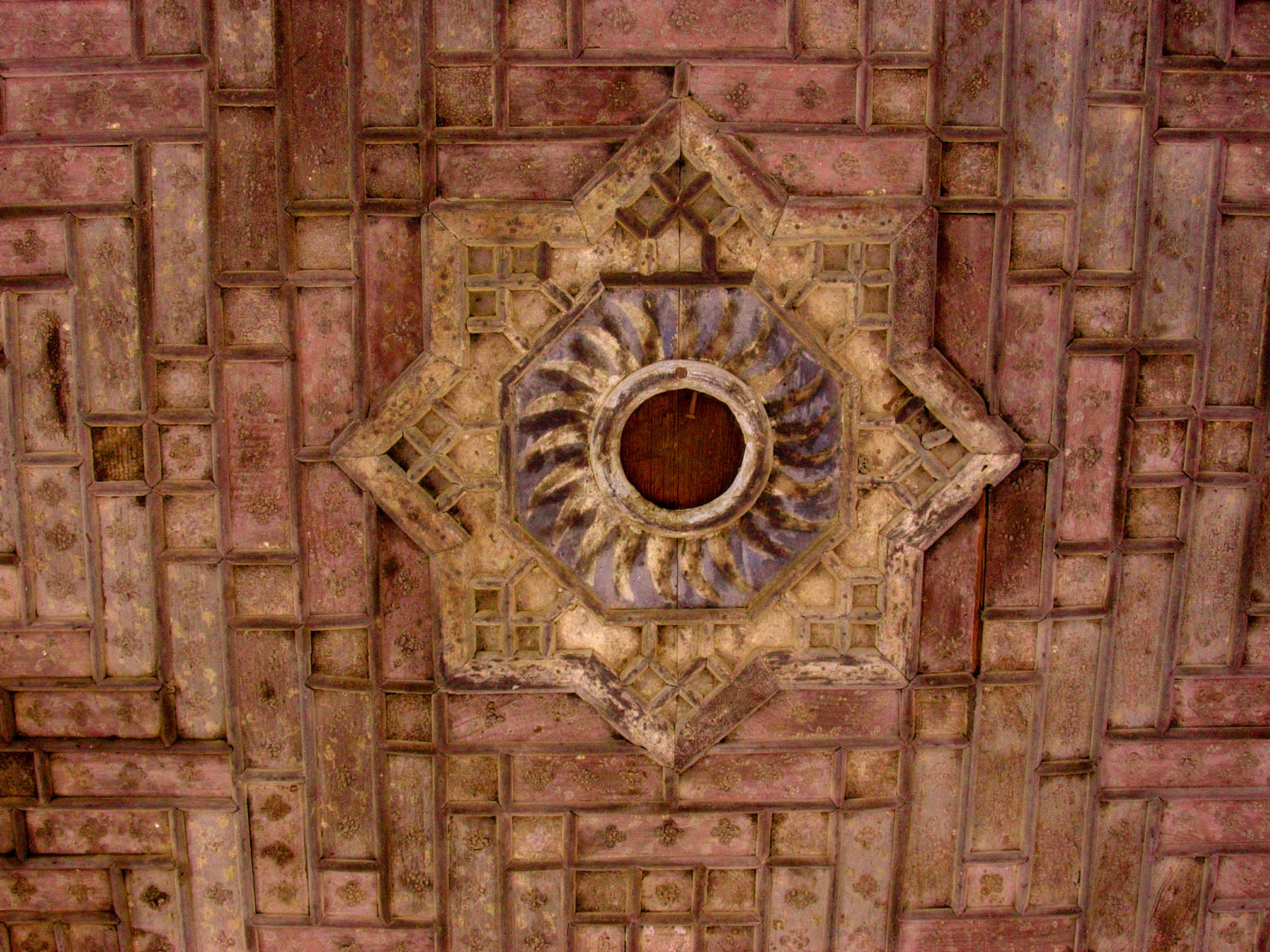 Detail of the ceiling in a pavilion in Shalimar Gardens, Lahore, Pakistan, 23 January, 2004, photograph by Gordon Brent Ingram