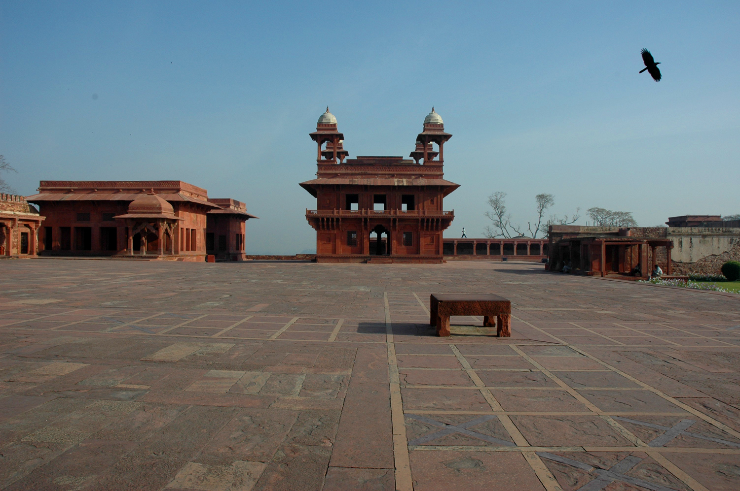 The celebrated chatri, Diwan-i-Khass, was set within a hard-surfaced maidan at Fatehpur Sikri, Uttar Pradesh, 18 March 2007, photograph by Gordon Brent Ingram