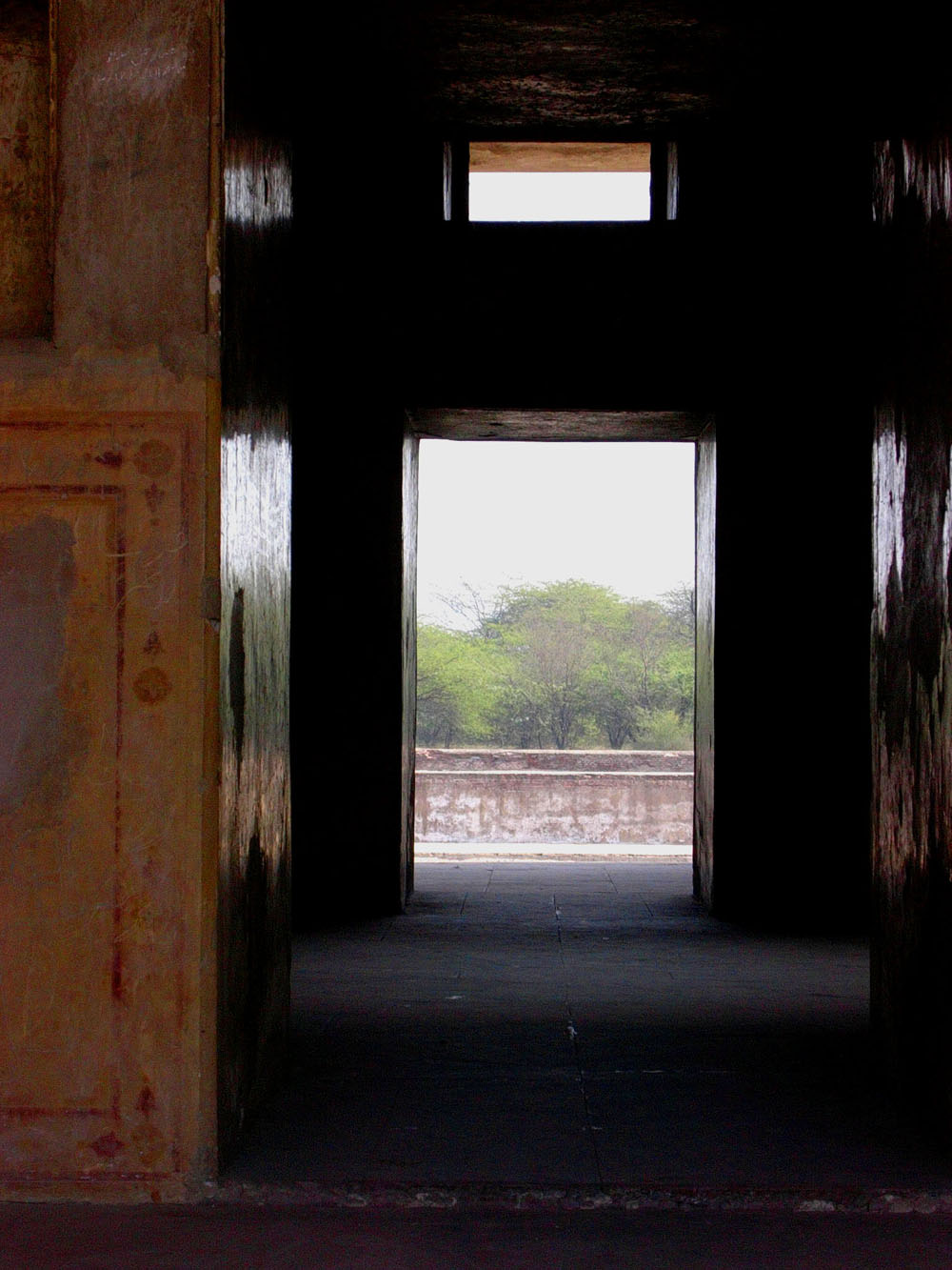 Inside the lake pavilion with a view of protected woodland, Hiran Minar, Sheikapura, Pakistan, 27 January, 2004, photograph by Gordon Brent Ingram